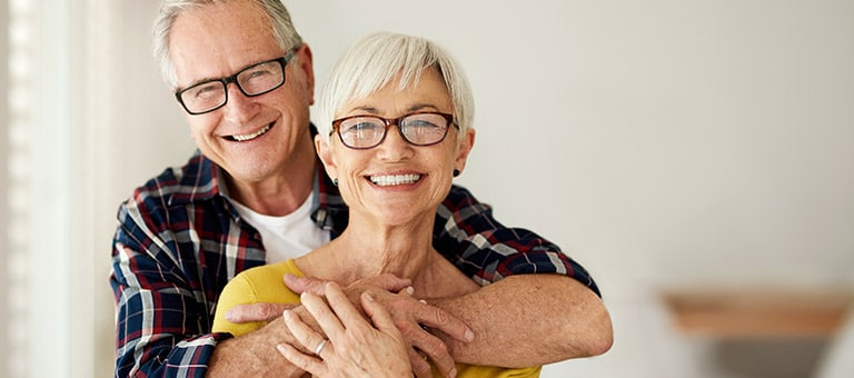 Senior Couple with Health Smiles